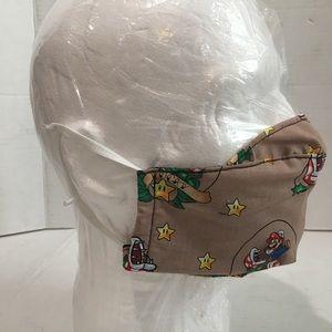 Mario Bros cotton face mask.